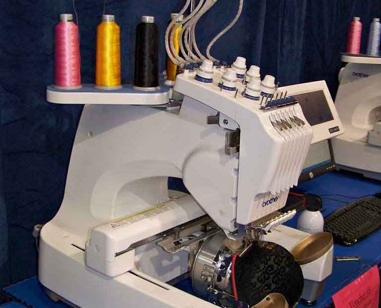 Machine embroidering