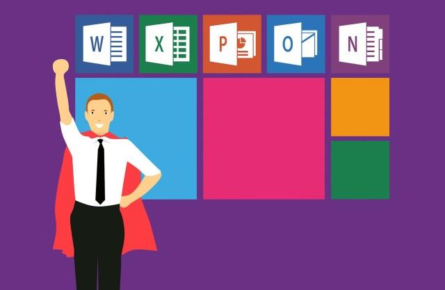 Excel, Word, PowerPoint - Logo exceller avec la bureautique