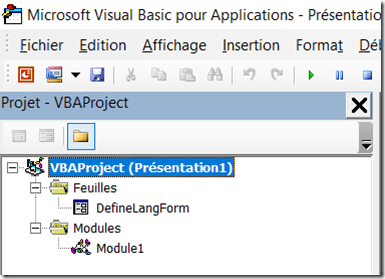 PowerPoint - Fichiers VBA importes