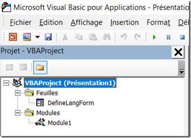 PowerPoint - Fichiers VBA importes