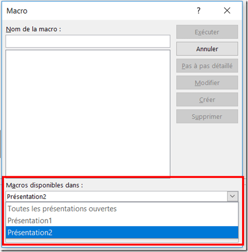 PowerPoint - Source de la macro