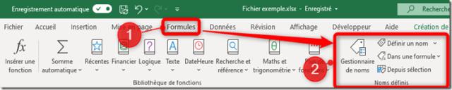Excel - MFC - Les noms