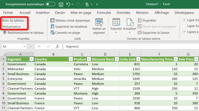 Cas 2 - Etat final - Données Excel Mutualisées