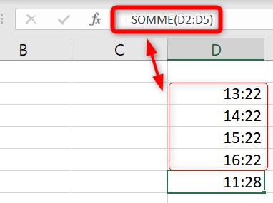 Additionner heures Excel - Comprendre l'affichage