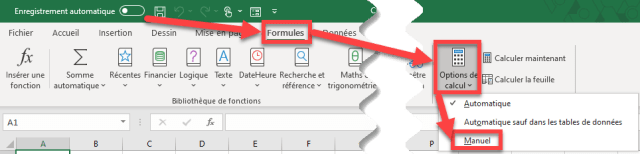 Apprendre Power Query - Option de calcul - Manuel