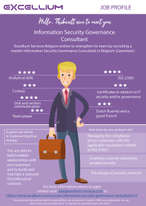 Information Security Governace Consultant - infographic