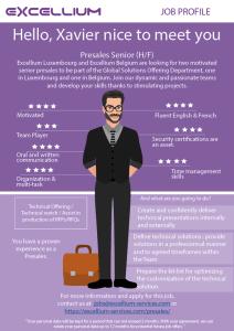 Senior Presales infographics