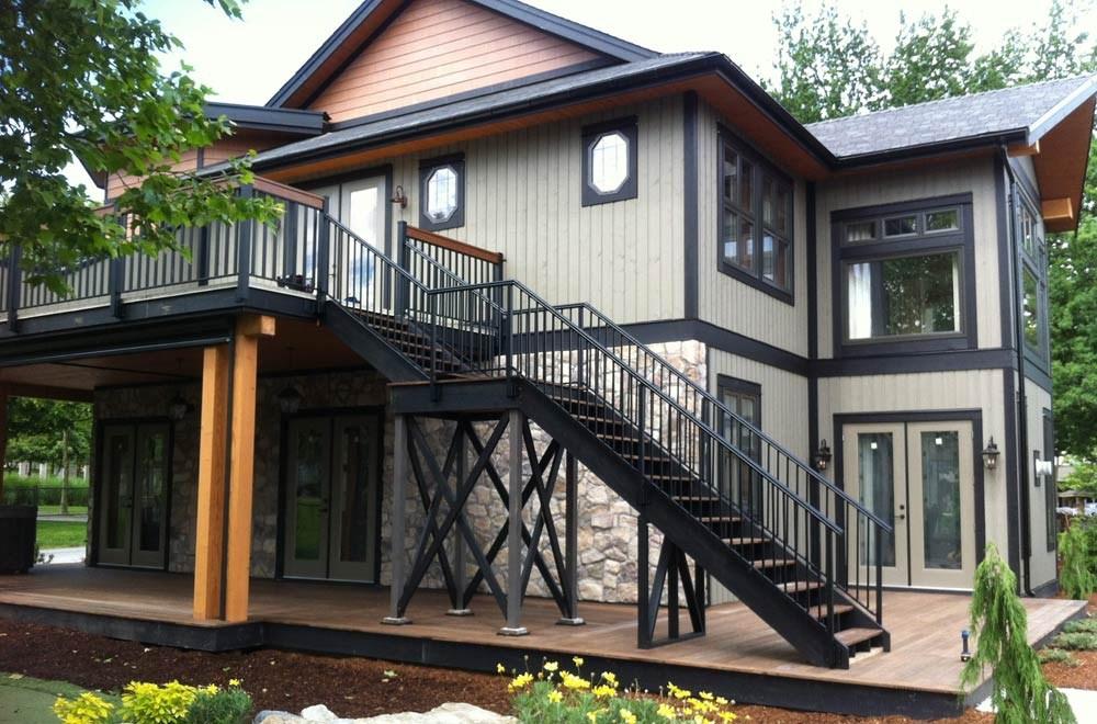 Aluminum Deck Railing Glass Railing Powdercoated Aluminum Picket | Aluminum Railings For Steps | Porch | Wood Wall Mounted Stair | Solid Wood | Custom Treated | Modern