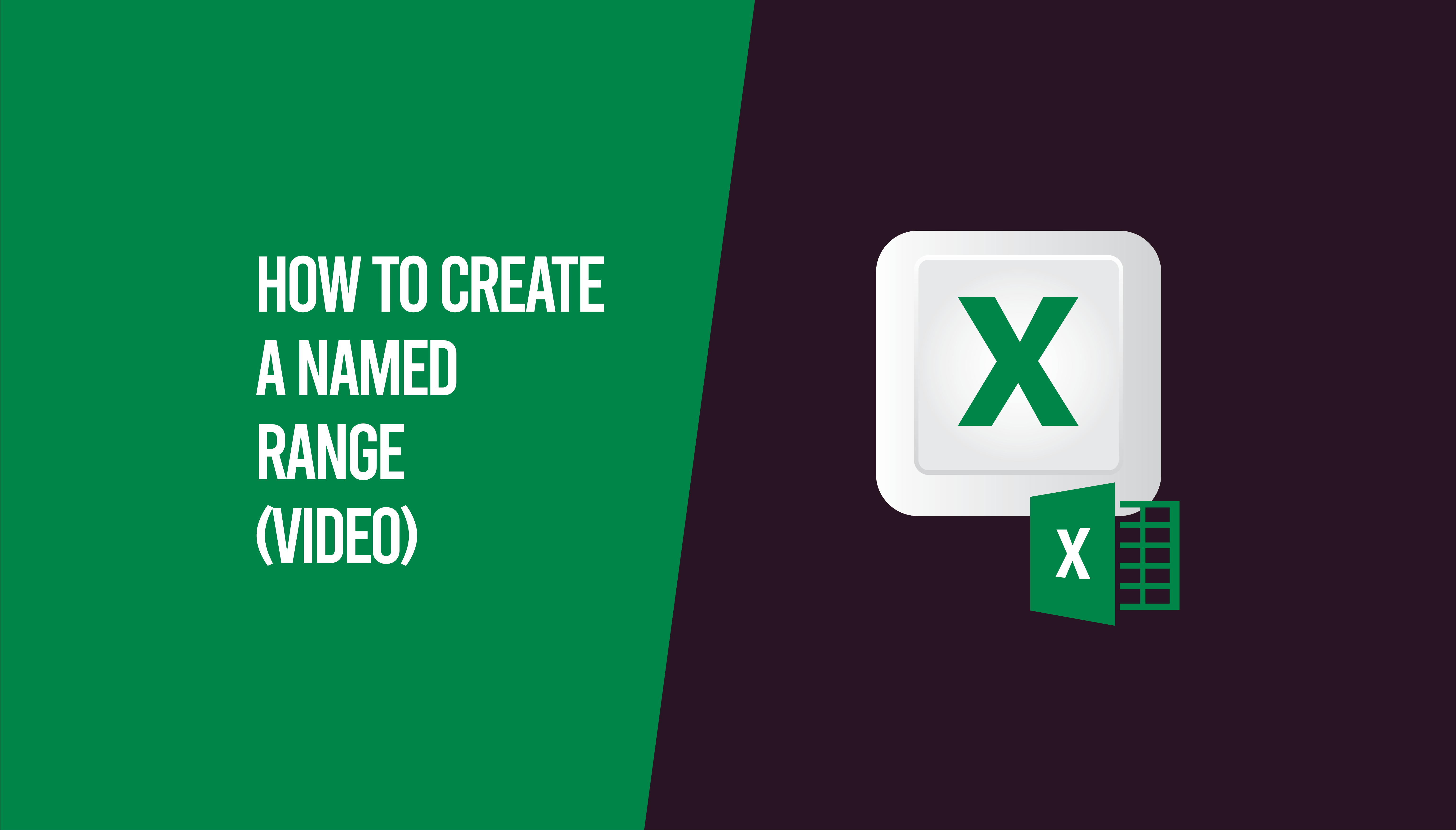 How To Create A Named Range Video