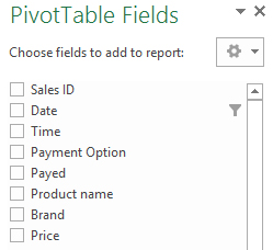 Pivot Table 101: Introducere