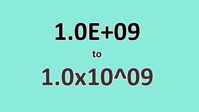 How to Convert Scientific Notation to x13 Format in Excel - ExcelNotes