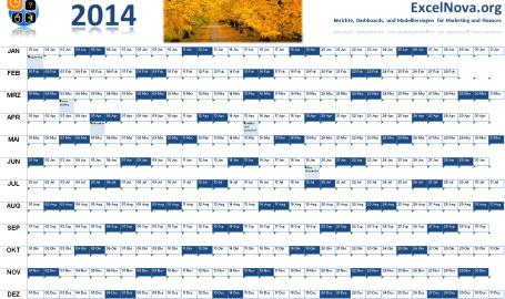 Excel Kalender 2014
