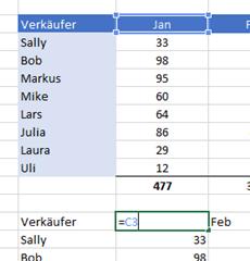 Wie man eine Excel Tabelle horizontal filtert