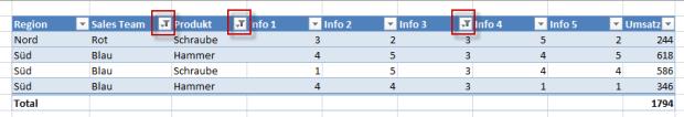 Filter mit multi Kriterien 2