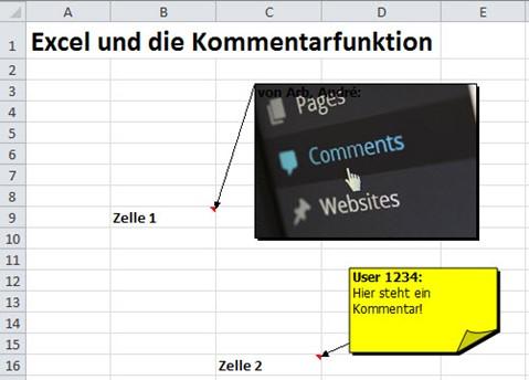 Excel und die Kommentarfunktion