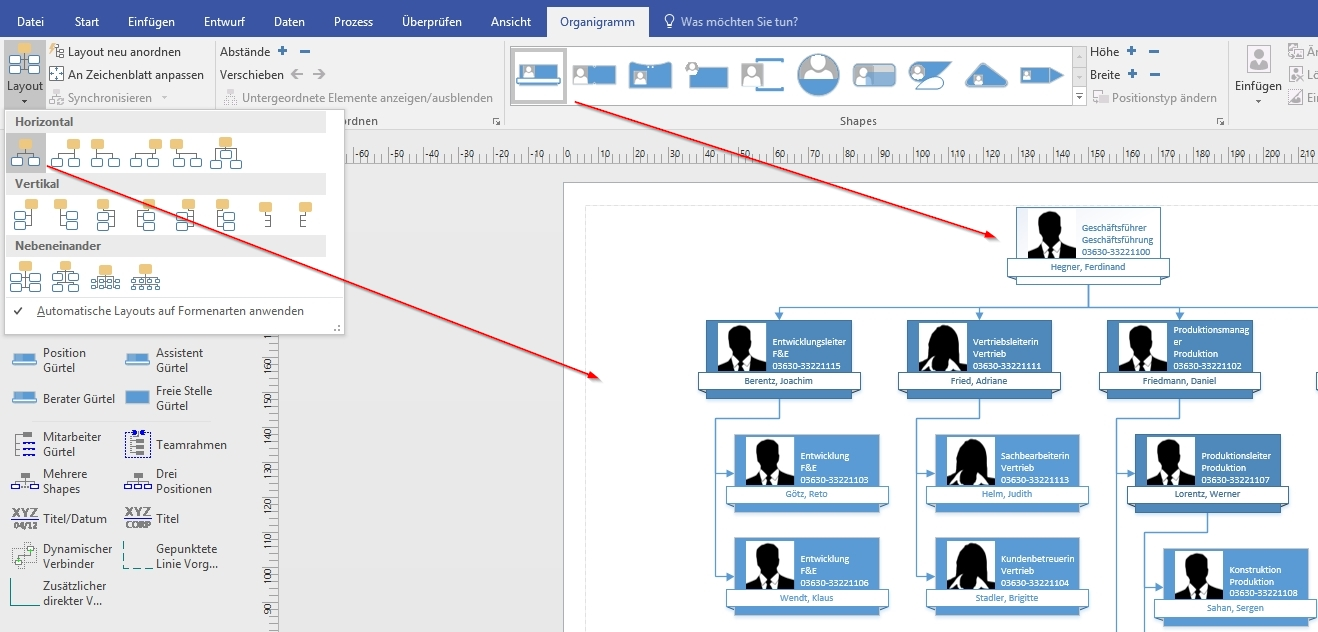 Organigramme erstellen mit Excel und Visio | ExcelNova