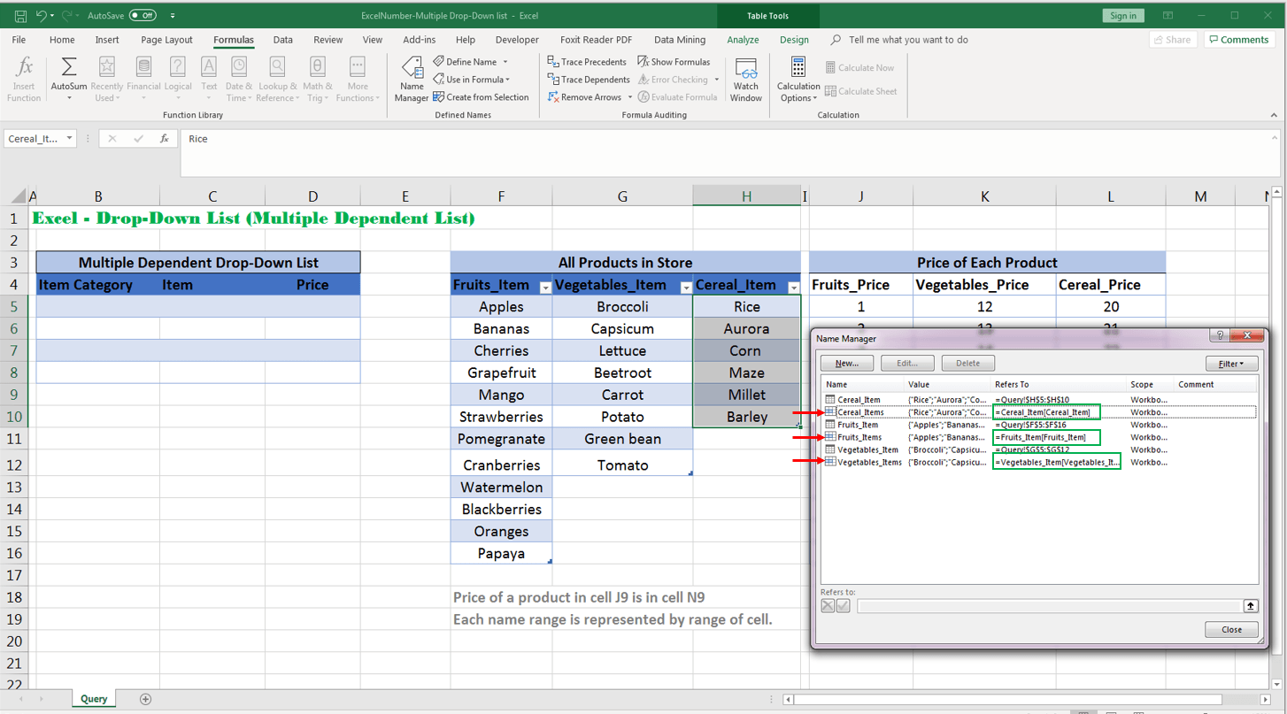 Excel Index Amp Match Function Multiple Dependent List