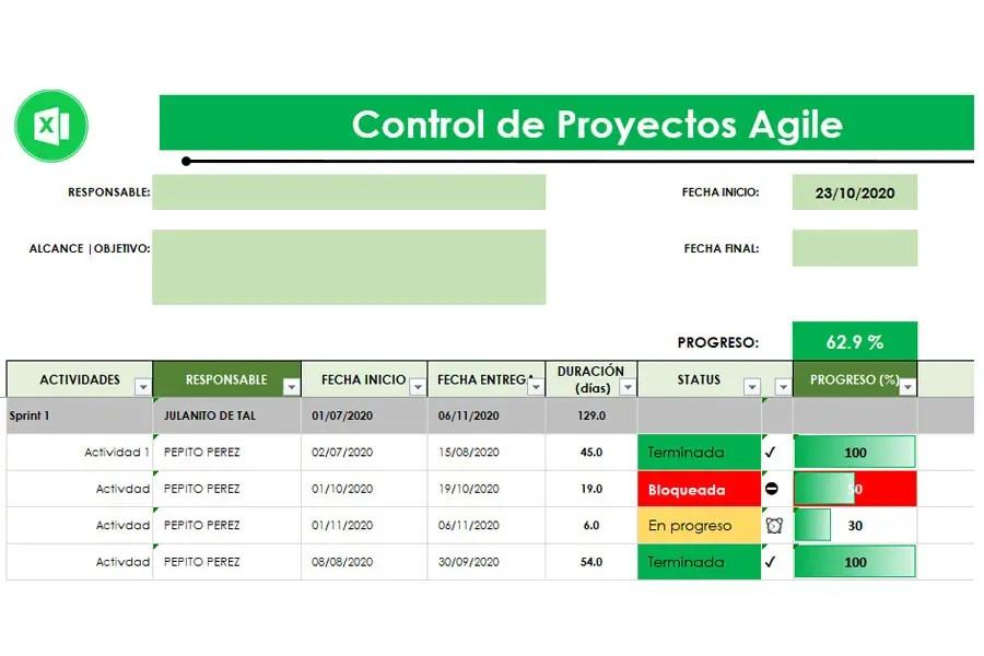 Plantilla Administración de Proyectos