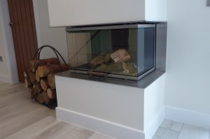 Wood-burning stove - full glass