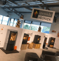 Loads of wood-burning stoves to choose from in the showrooms.