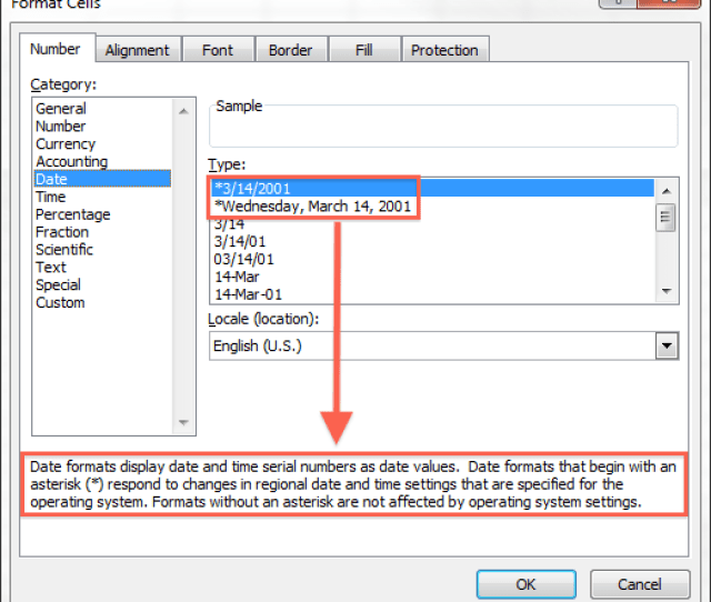 Date Format Settings Excel Windows
