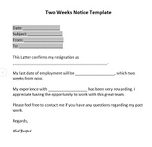 40 Simple Two Weeks Notice Letters