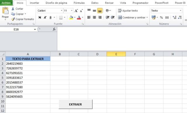 EXTRAER DATOS DE UNA CADENA DE TEXTO DE DOS EN DOS O MAS CARACTERES