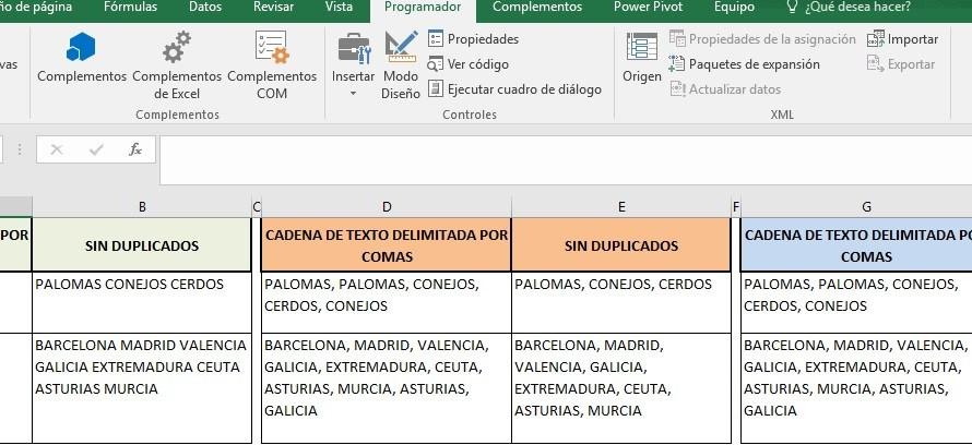 ELIMINAR DUPLICADOS EN UNA CADENA DE TEXTO Y ORDENAR INFORMACIÓN
