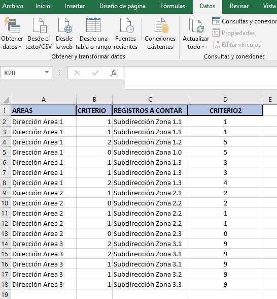 contar registros unicos con varios registros ii