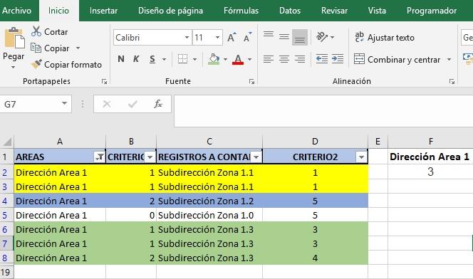 CONTAR REGISTROS ÚNICOS CON VARIOS REGISTROS II