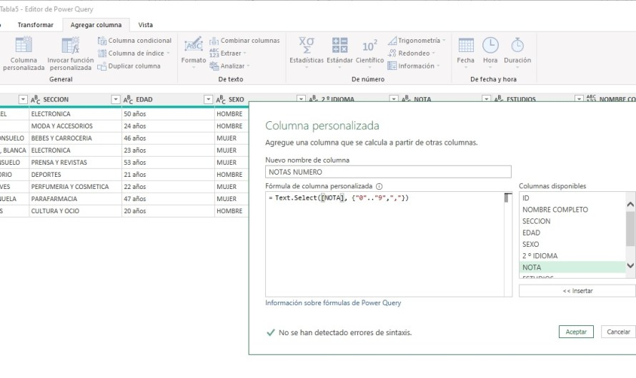 EXTRAER NÚMEROS O LETRAS CON POWER QUERY