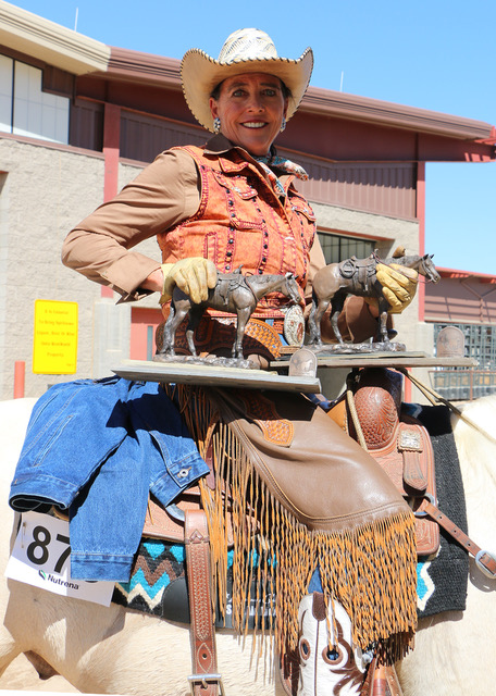Woman Western Rider Winning