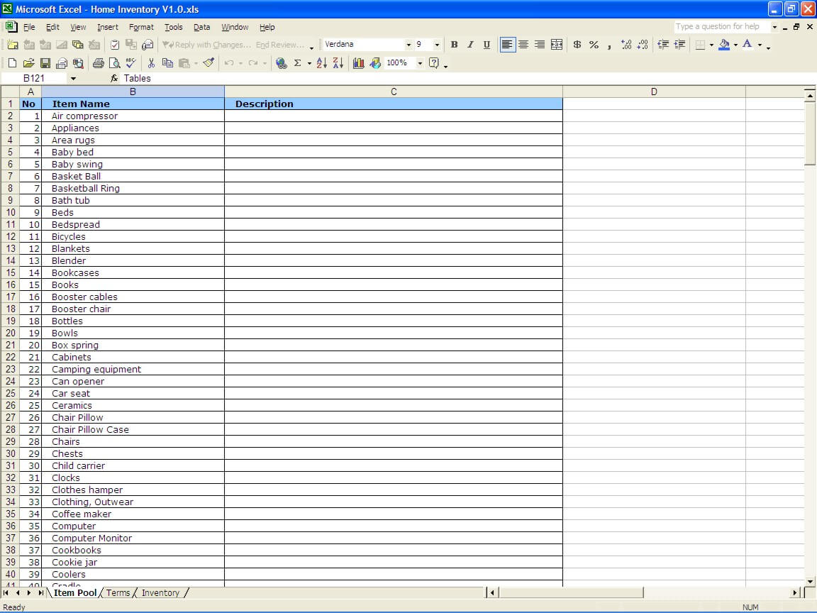 Kitchen Inventory Template blank list free list inventory format – Stock List Format