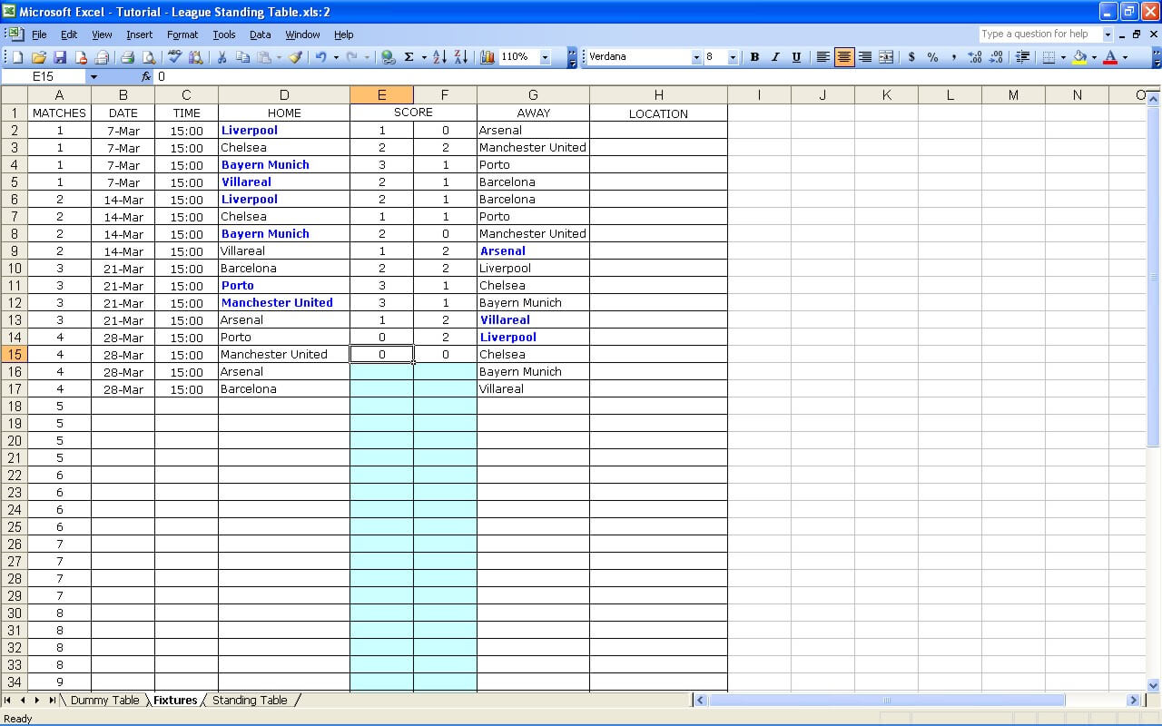 10 Column Worksheet Template Excel