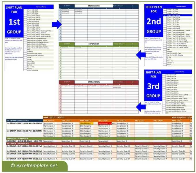 10 hour fixed shift schedule templates its your template