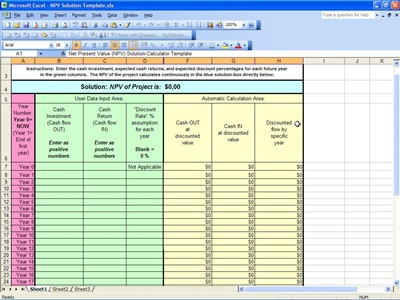 how to calculate net present value in excel 2010 a present value more informationwrenchgepy. Black Bedroom Furniture Sets. Home Design Ideas