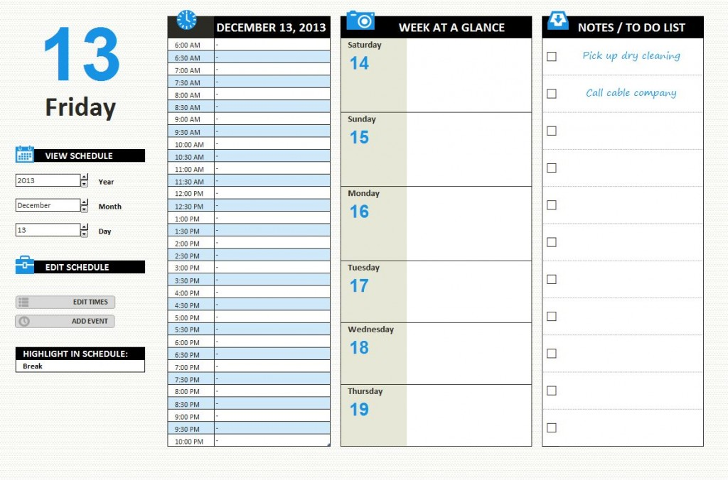 daily task template member daily task schedule free weekly – Daily Task Calendar Template