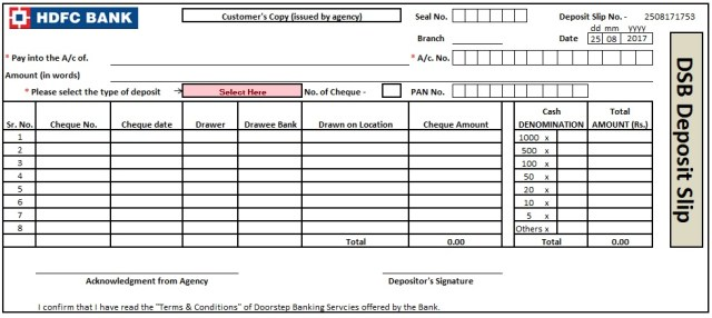 Deposit slip templates free download champlain college for Checking deposit slip template