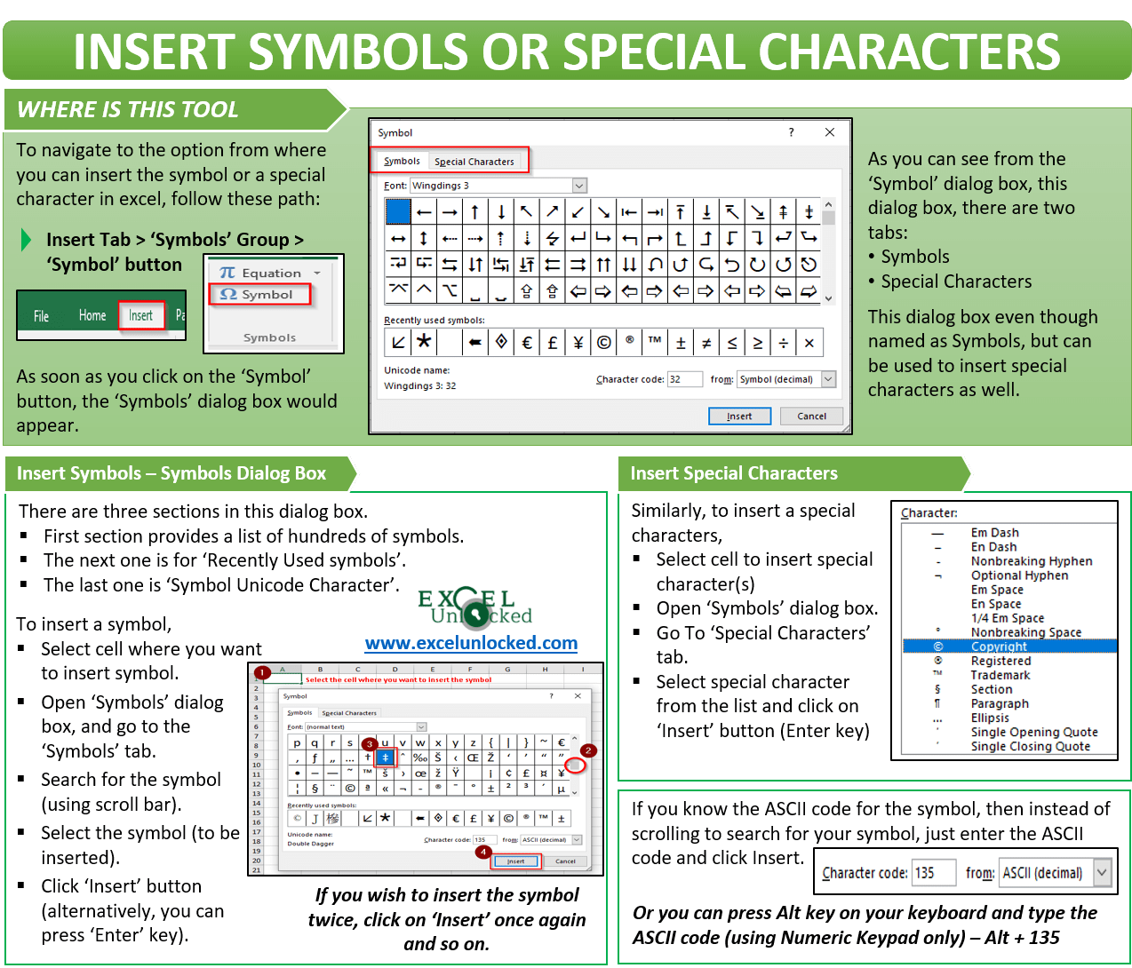 Insert Symbols And Special Characters In Excel