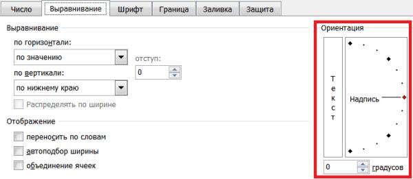 Вертикальное написание текста
