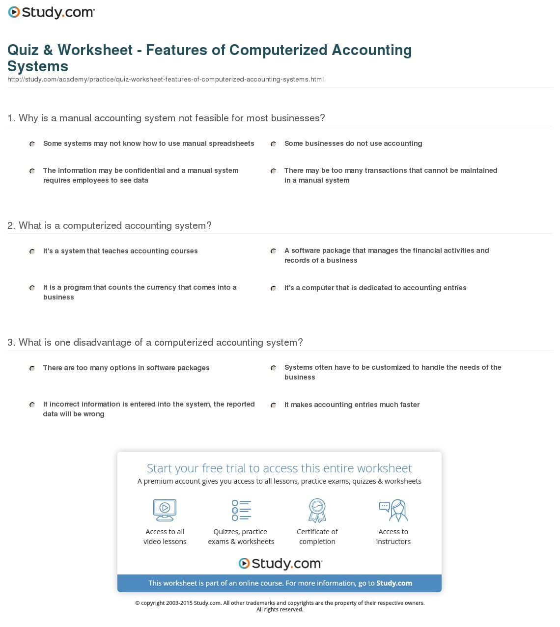 Accounting Practice Worksheet