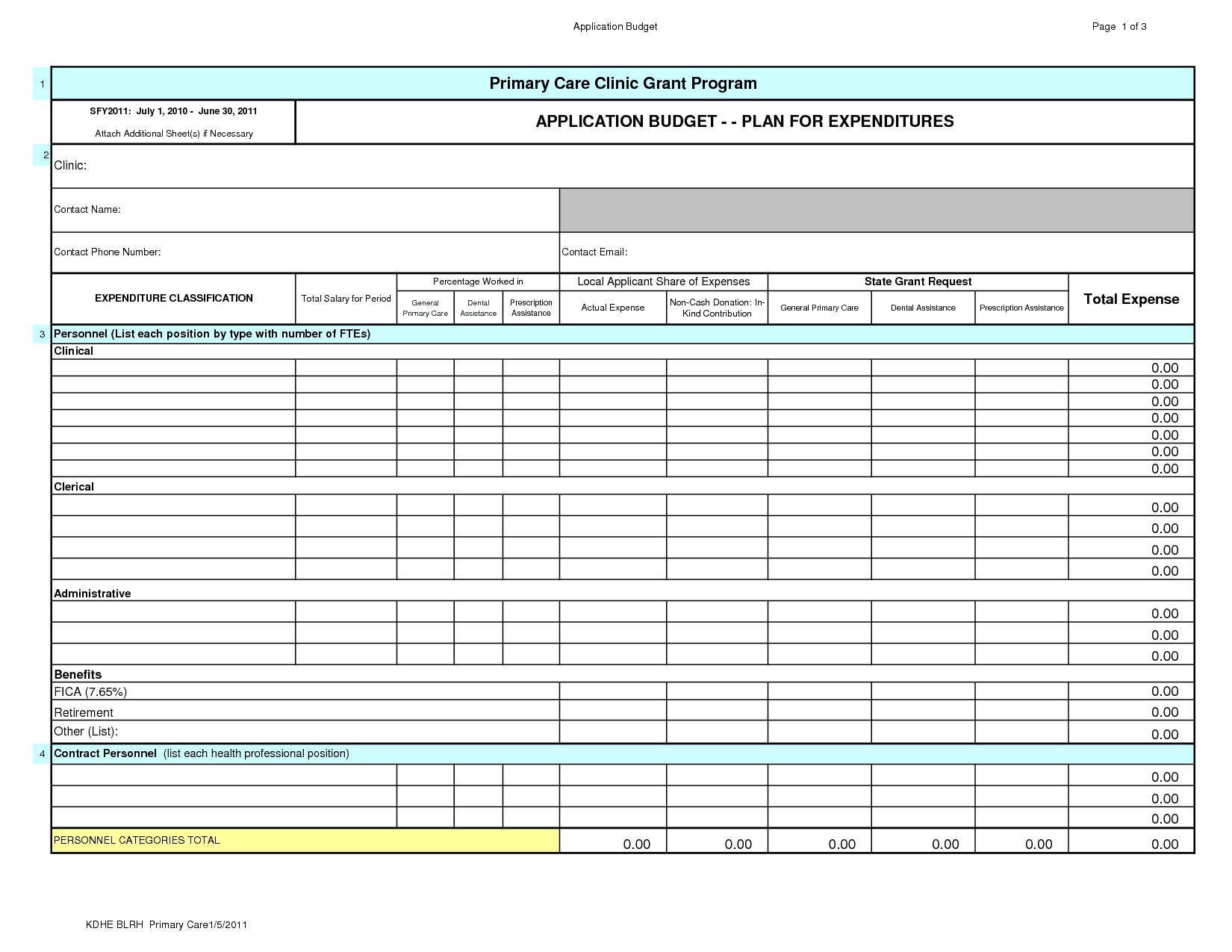 Personal Finance Spreadsheet Template