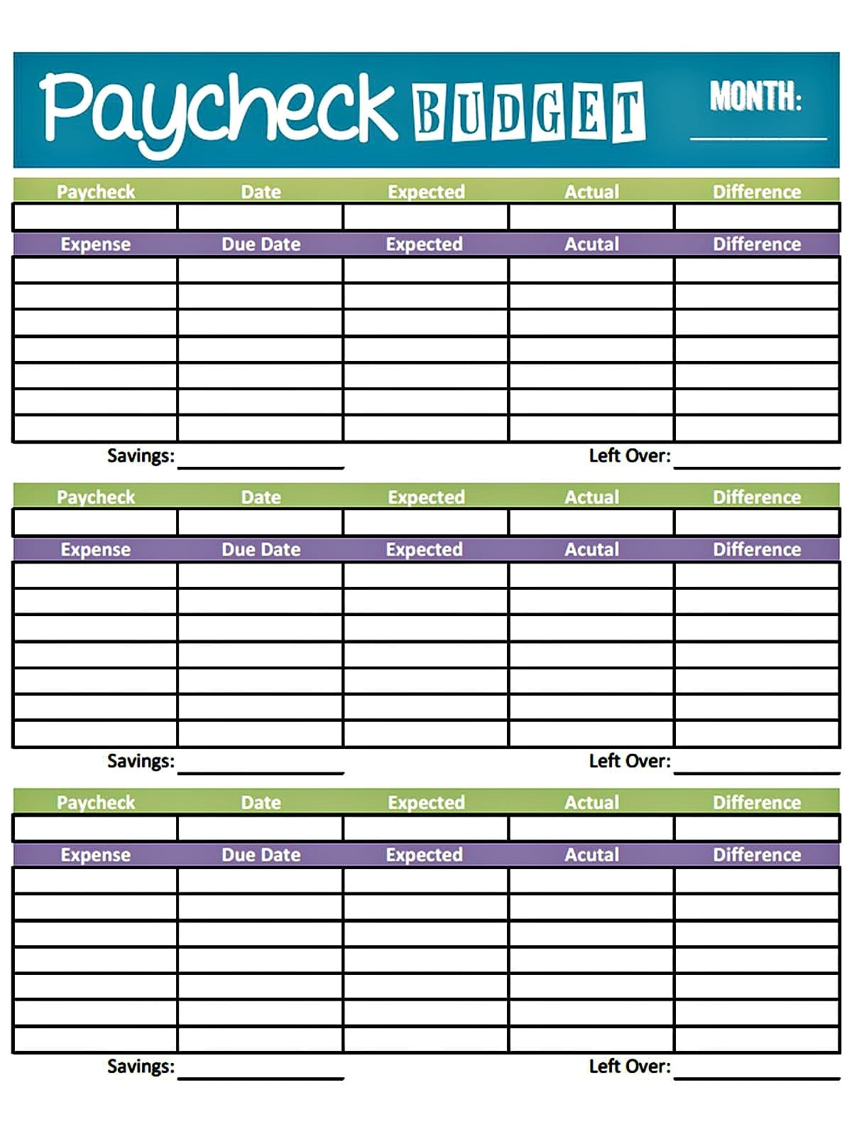 Monthly Budget Form Fillable Free Monthly Budget