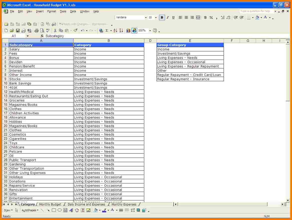 Template Budget Spreadsheet Spreadsheet Templates For
