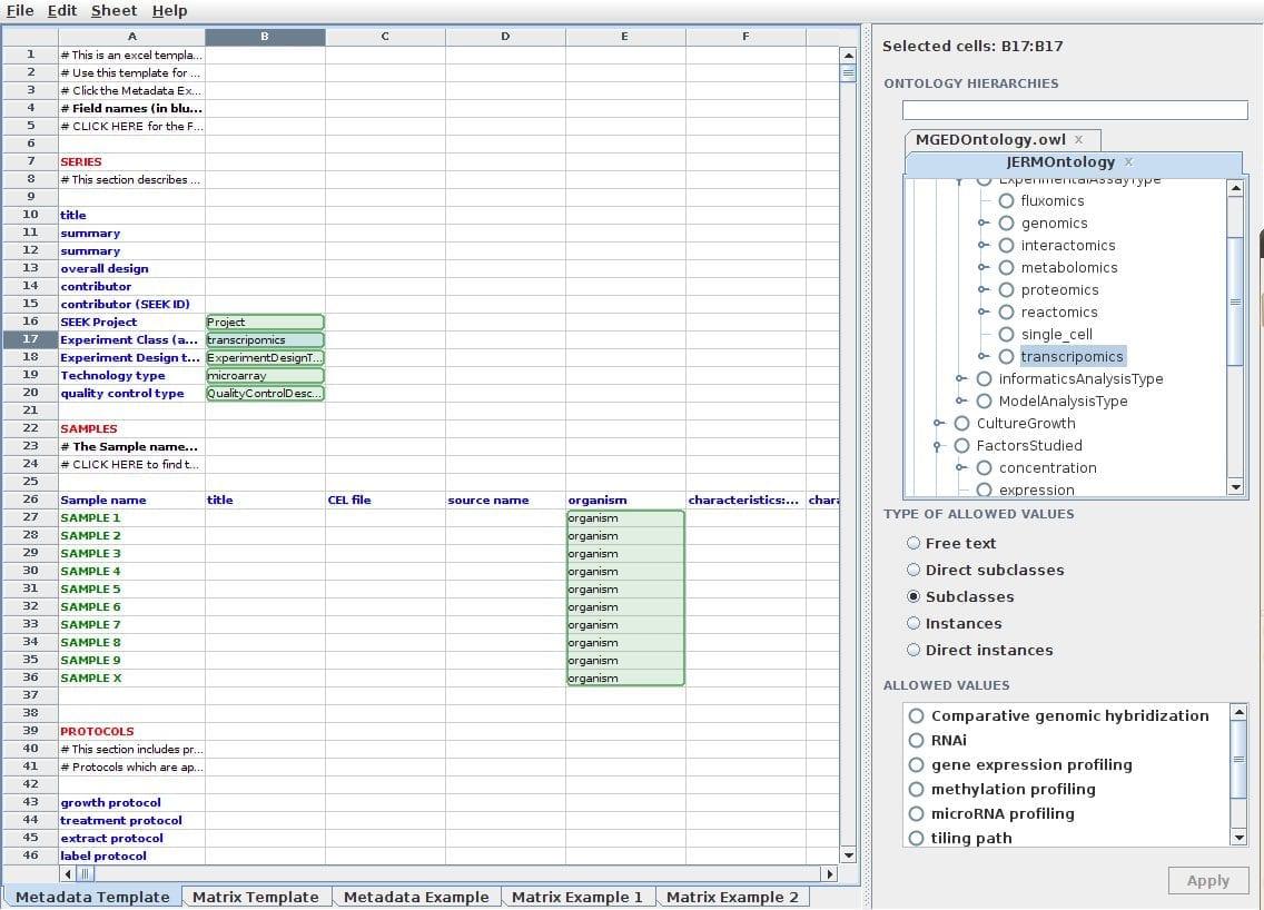 Data Spreadsheet Templates