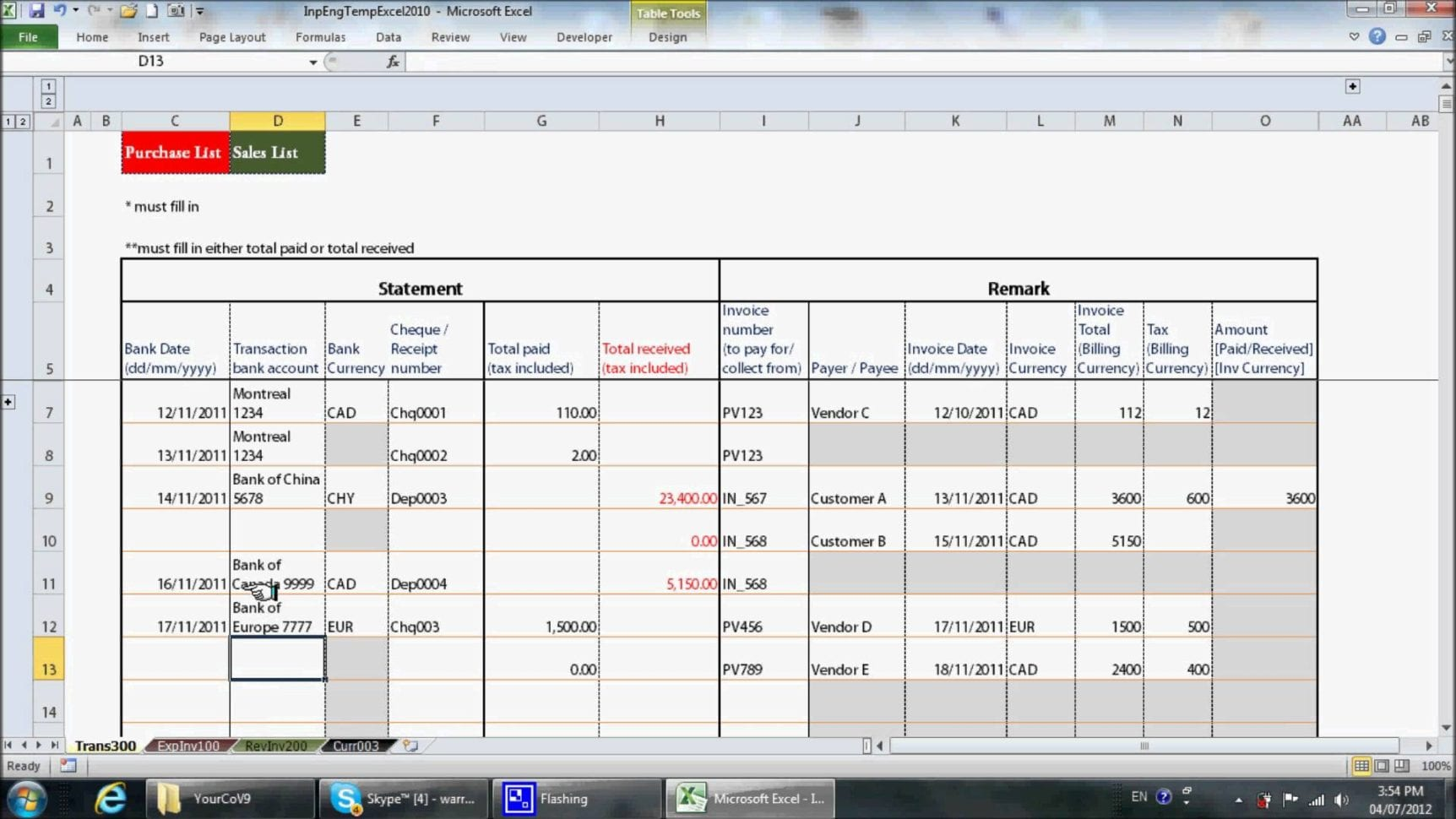 Spreadsheet Template Accounting Spread Sheet Financial Statements Templates Bookkeeping