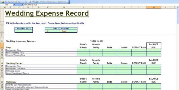 wedding expenses spreadsheet uk invitationsjdi org