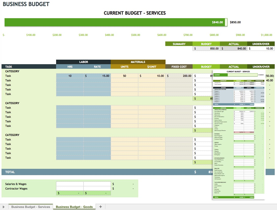 Business Expense Worksheet Expense Template For Small