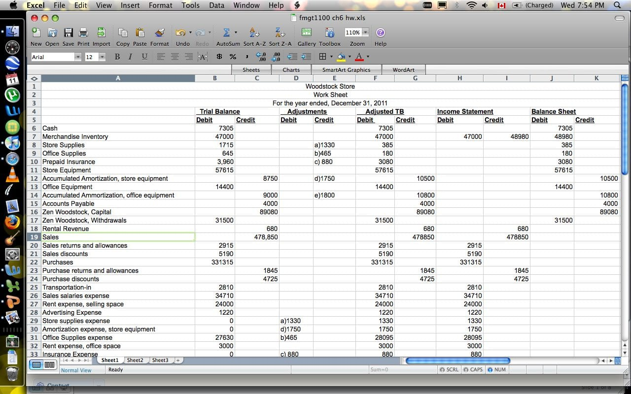 Cash Flow Statement Worksheet