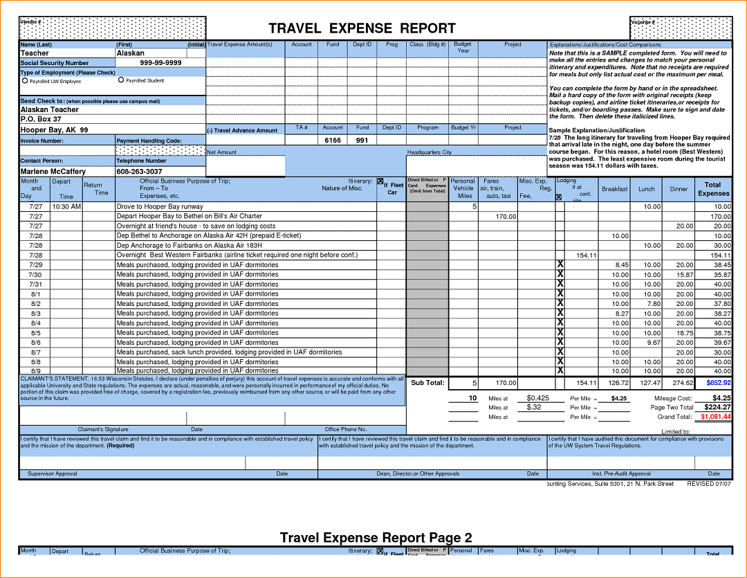 Monthly Expense Spreadsheet Template Excel Monthly Bill